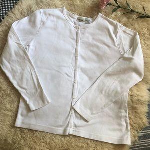 Creamy white cotton cardigan 🍃